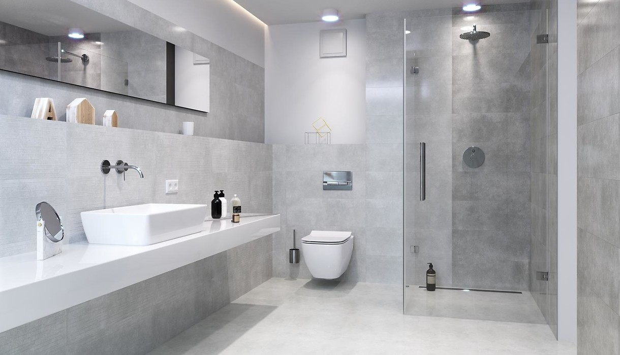 Tiles FLOWER CEMENTO grey / Collections / Opoczno Ceramic Tiles on floral ceramic tile murals, black and white wall designs, glass wall tile designs, ceramics porcelain tile designs, dolphins pool tile designs, porcelain floor tile designs, 3d wall designs, kitchen ceramic wall tile designs,