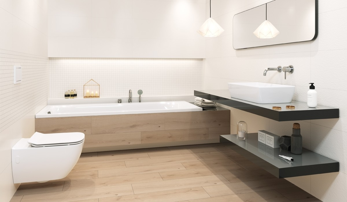Tiles NATURAL ZEN / Collections / Opoczno Ceramic Tiles on modern bathroom interior design, powder room interior design, asian bathroom design, bathroom with black accents,